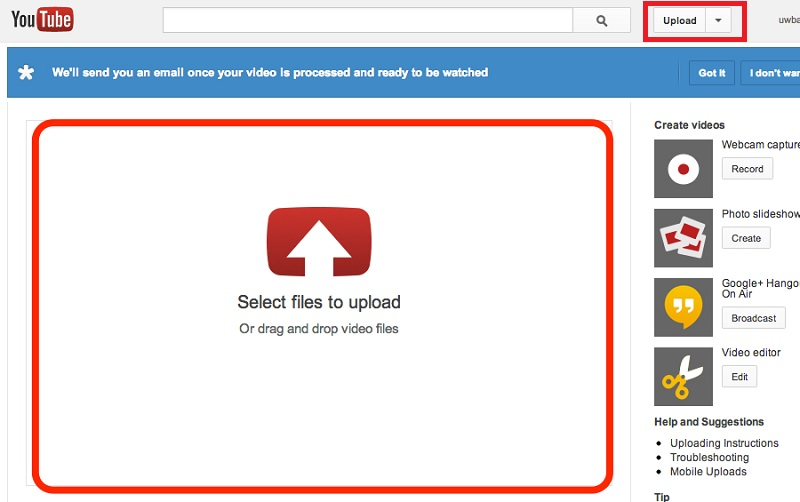 googleslides youtube interface