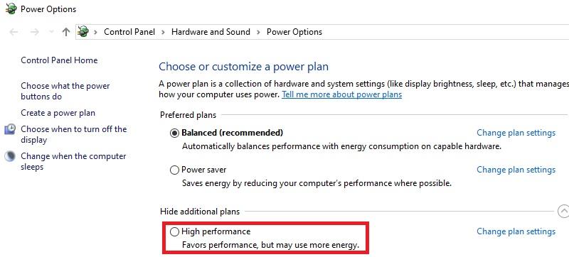optimize windows10 high performance