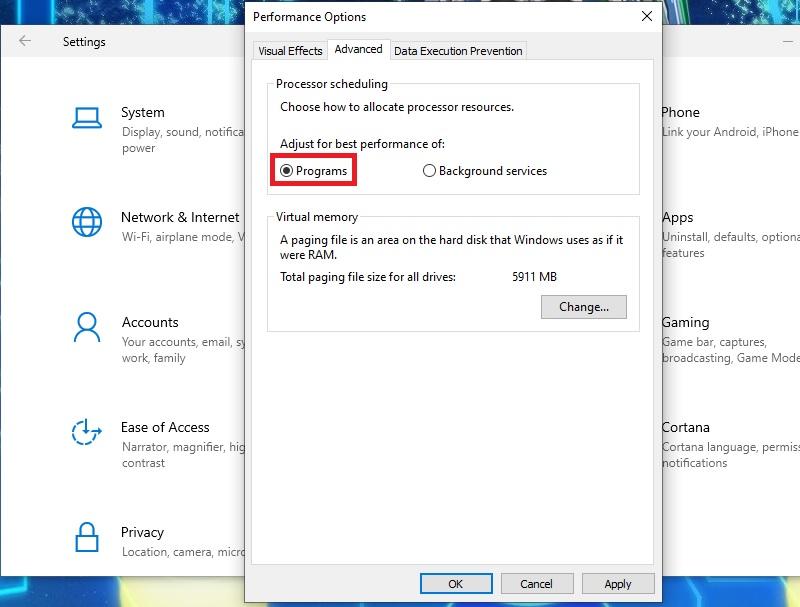 optimize windows10 visual effects2