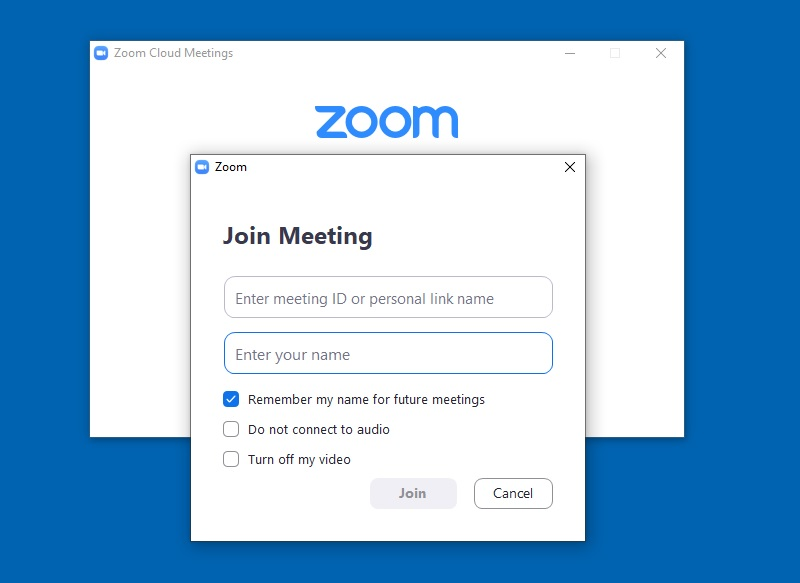 videoconference zoom interface