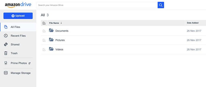 amazon main interface