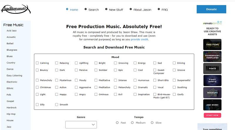 audionautix mainpage
