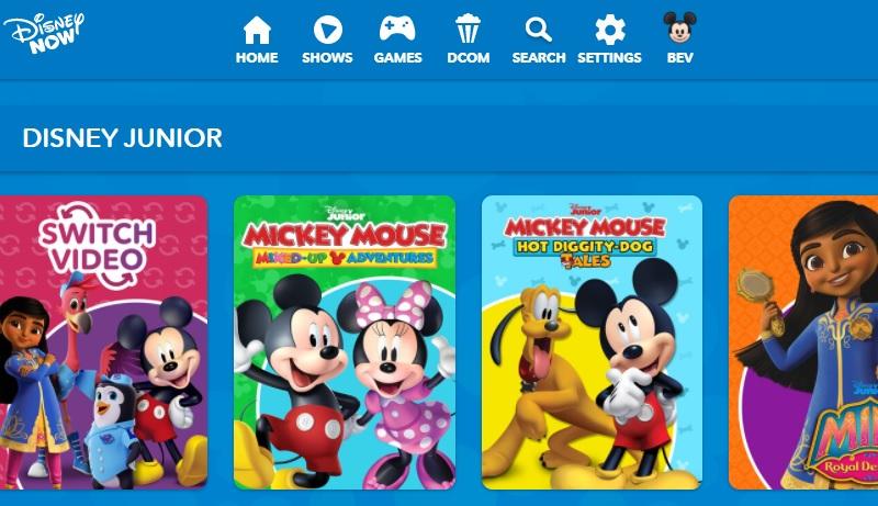 Disney Junior Schnittstelle