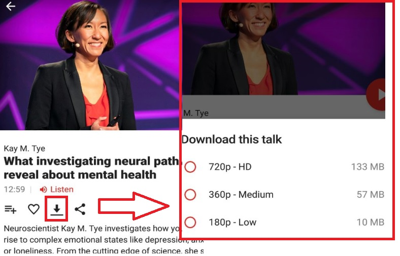 download ted talks via android