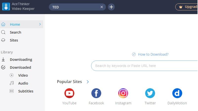 Download Ted Talks vk Schritt 1