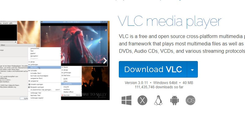 dvd on laptop with vlc