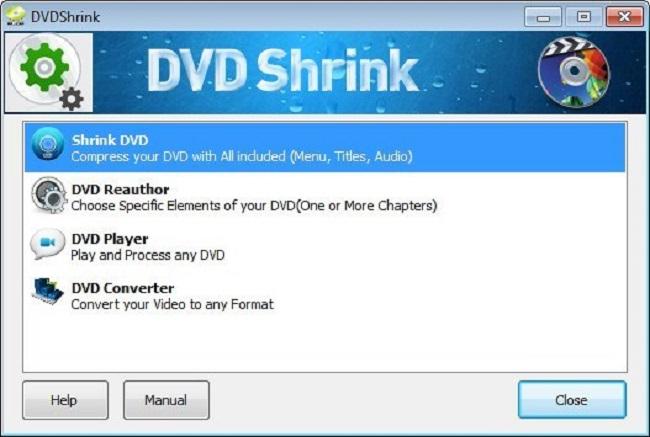 dvd shrink interface