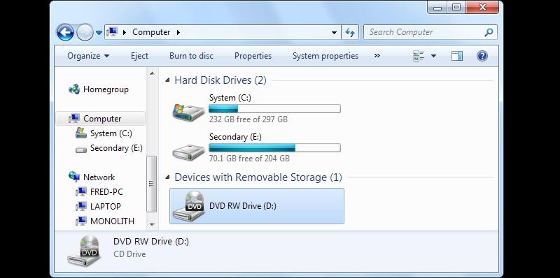 hp dvd windows7