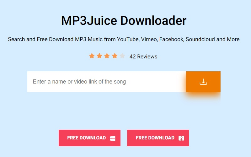 mp3juice interface