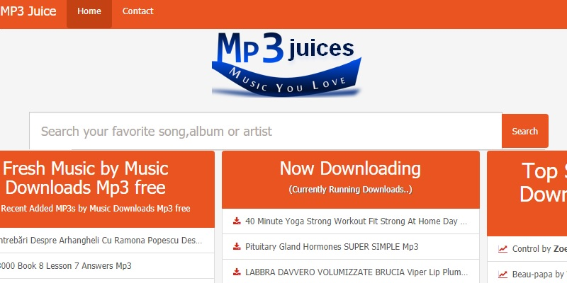 mp3juices interface