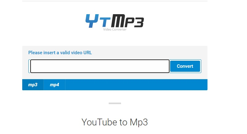 ytmp3 interface