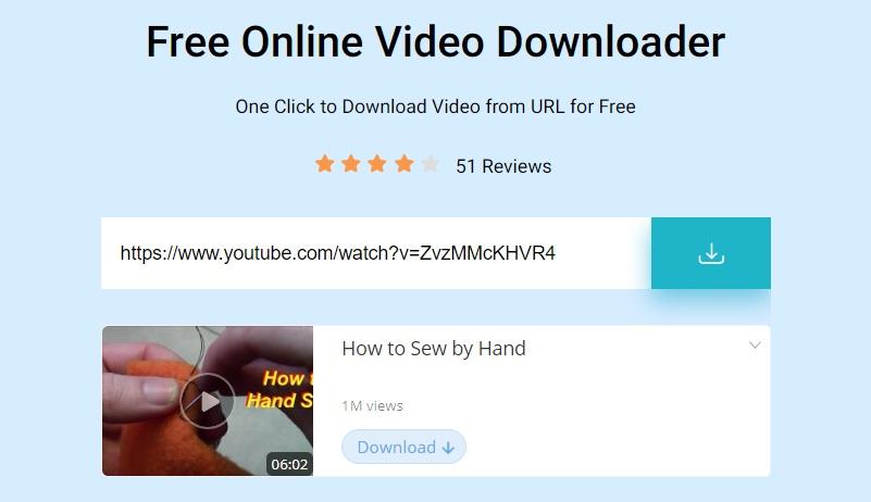 acethinker free online video downloader-interface