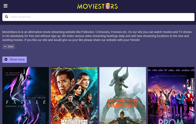 best movies sites no signup moviestars