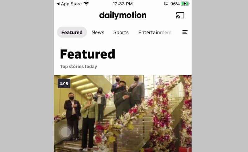 dailymotion ios interface