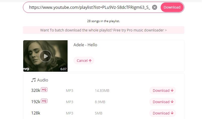 YouTube-Album mit MP3-Finder herunterladen