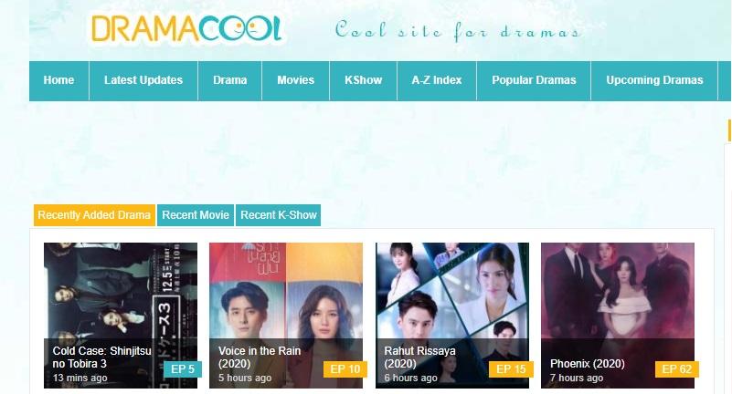 dramacool interface