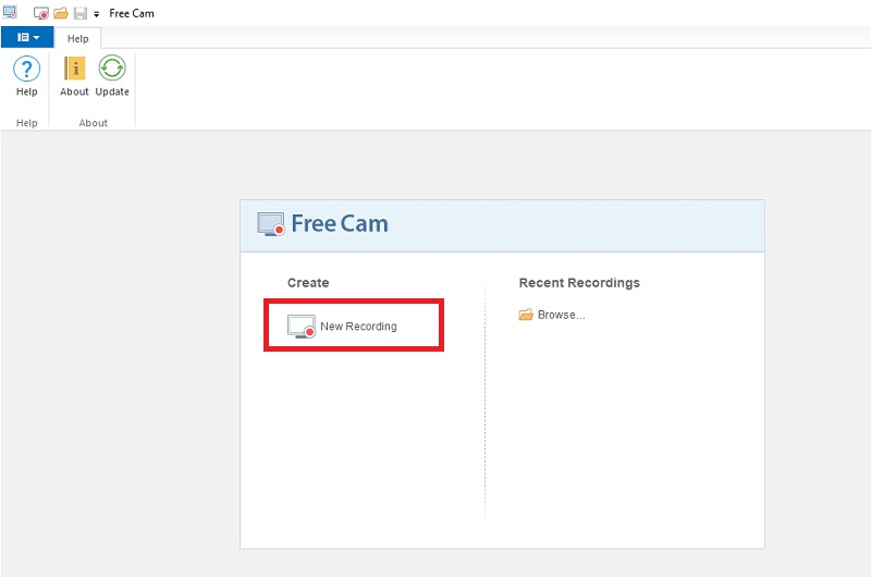 ispring free cam recorder step1