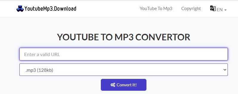 youtubemp3 interface