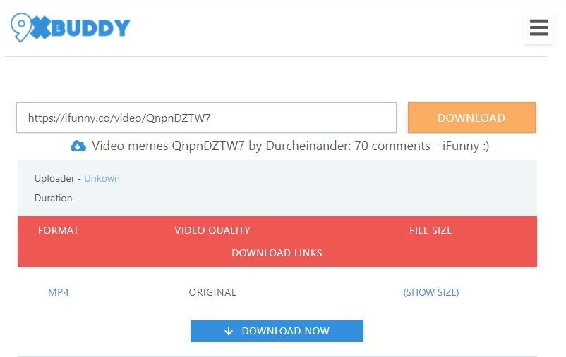 9xbuddy herunterladen ifunny