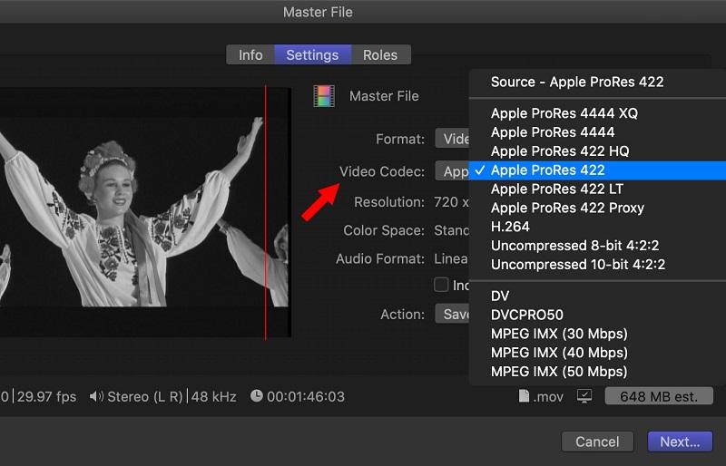Apple Prores Codec