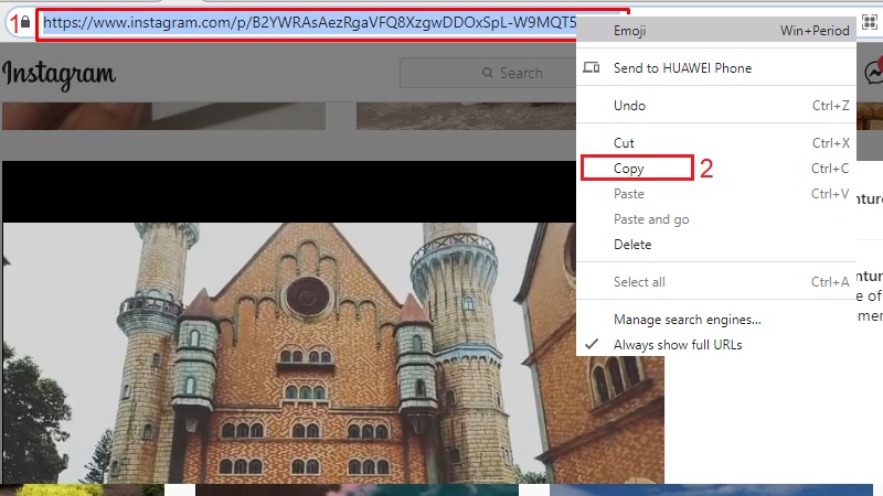 download instagram video on pc online step 1