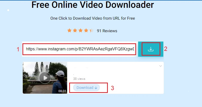 download instagram video on pc online step 2