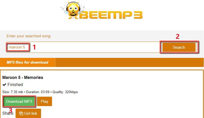 beemp3 interface