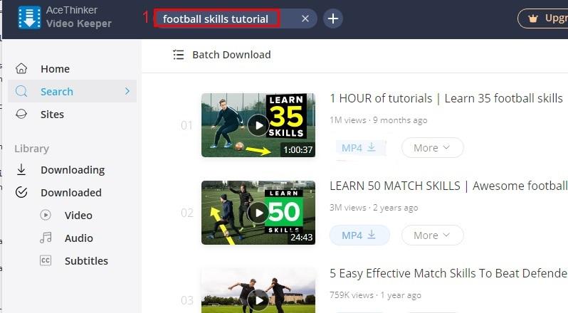 download football skills video step 2
