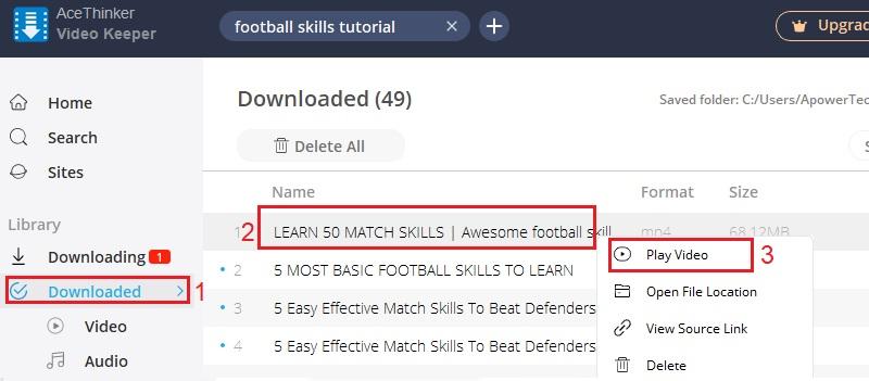 download football skills video step 4