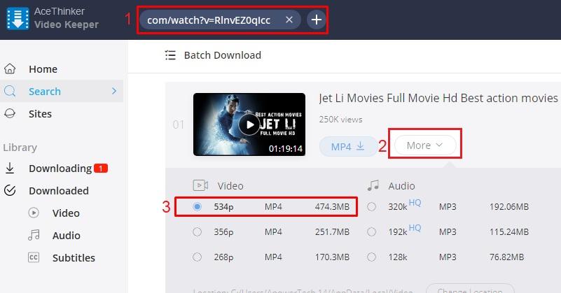 download jet li movies vk step 3