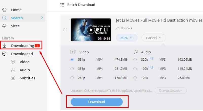 download jet li movies vk step 4