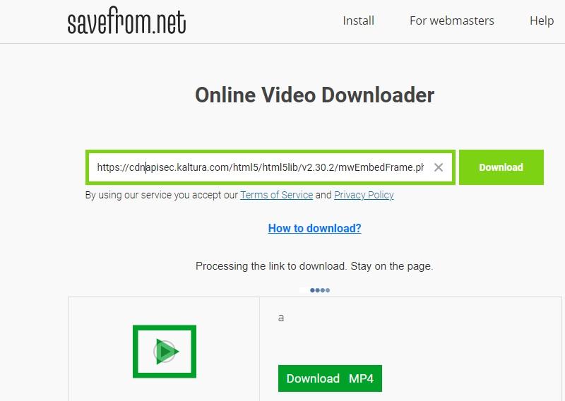 download kaltura savefrom