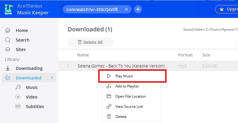 download music internet mk step4