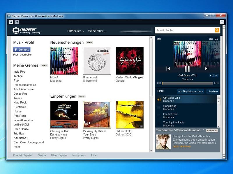 download music internet napster