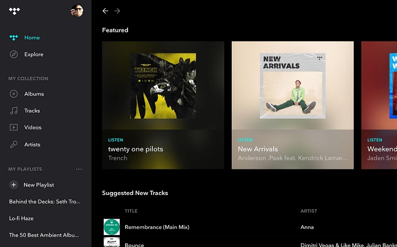 download music internet tidal