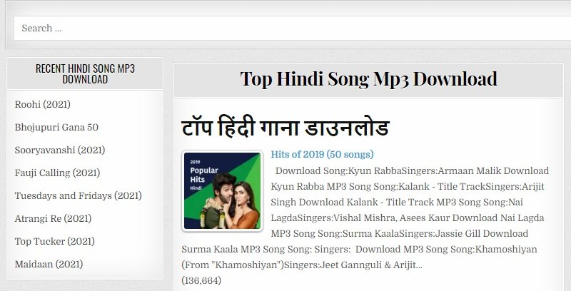 hindisongcc interface