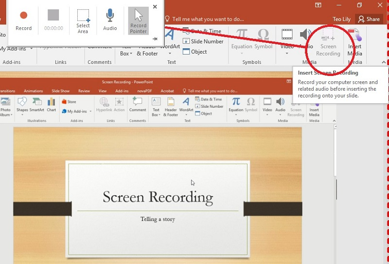 record powerpoint powerpoint