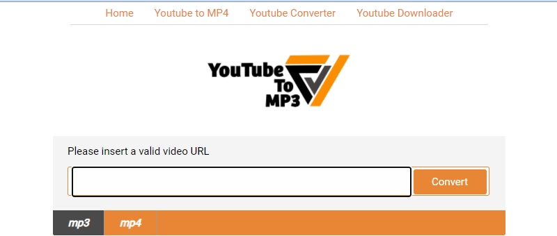 youtubetomp3org interface