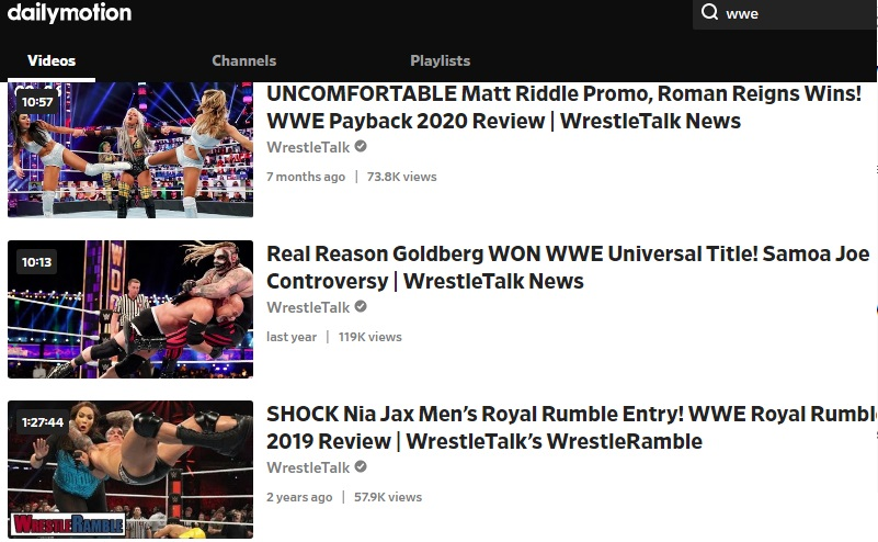 download wwe video dailymotion