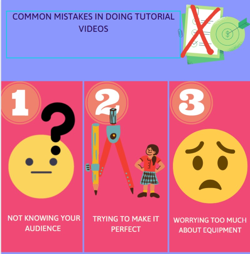make tutorial videos mistakes