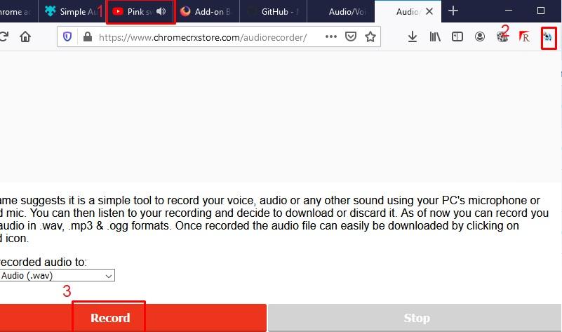 record audio online firefox audio recorder