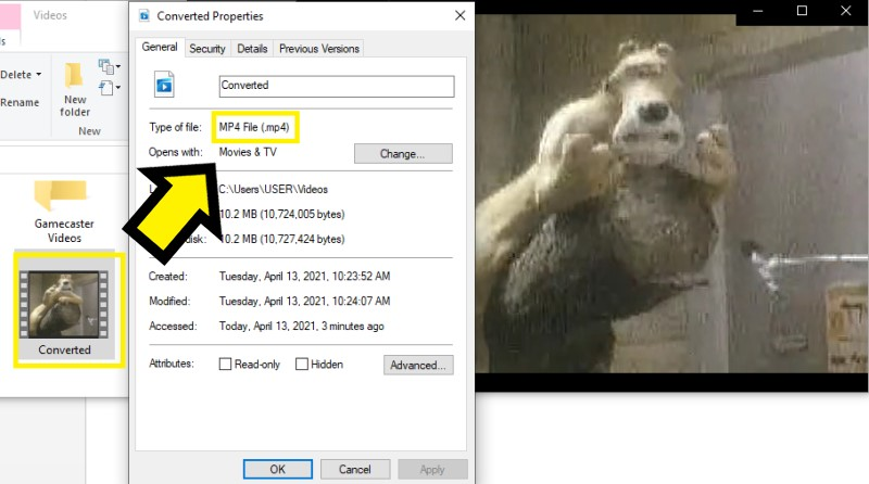 vlc to mp4 vlc play step4