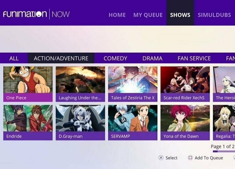 best anime sites funimation