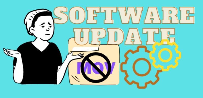 fix mov error cause software update