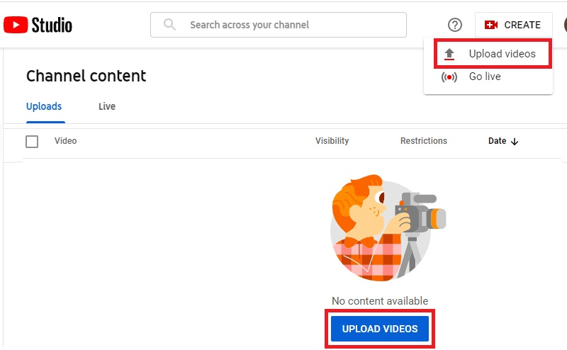 share youtube videos upload