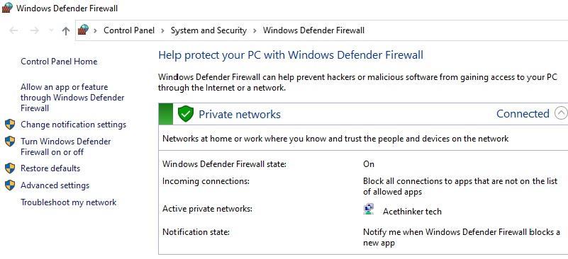 twitter not working update firewall
