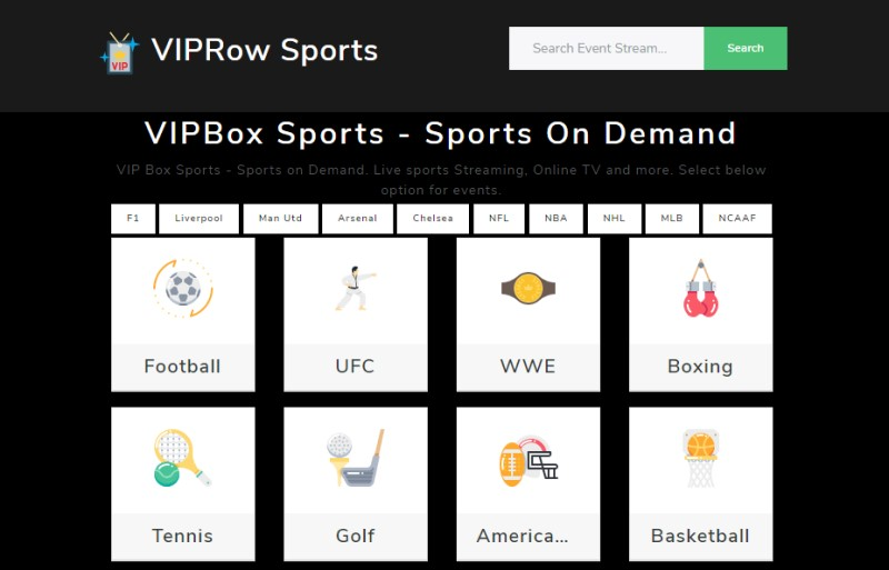 vip row sports