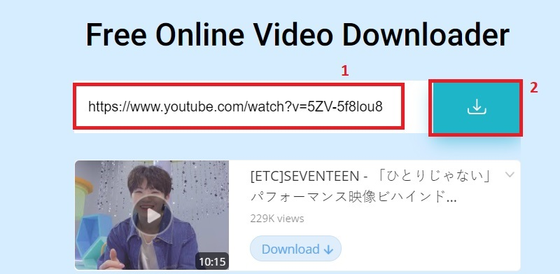 download youtube video to computer online step2