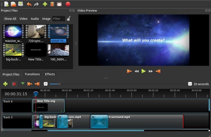 open source video editor openshot