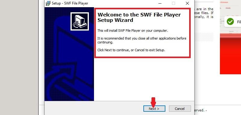 open swf file step3